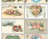 Hands - 8 Authentic Vintage Images of Hands on a Digital Collage Sheet Download - AHAND