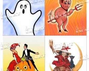 Halloween-4 Designs on a Collage Sheet Digital Download - DLHLWNKIT11