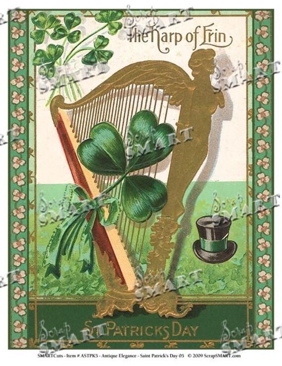 st patrick 39 s day full sheet the harp of erin. Black Bedroom Furniture Sets. Home Design Ideas