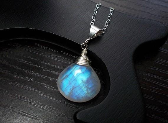 Moonstone Necklace, Gemstone Necklace, Sterling Silver