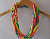 Jersey scarf in Neon Rainbow