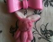 Tiny Pink Bunny Necklace