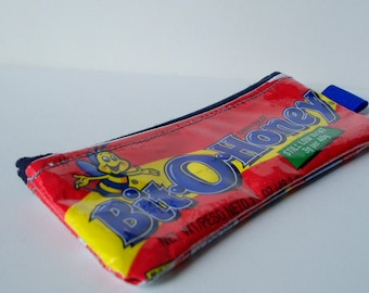 UPCYCLED Bit-O-Honey candy wrapper RECYCLED into sweet coin purse