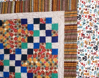 Twice the Memories Quilt with Tshirts & Scrubs