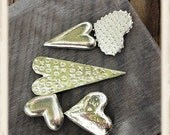 5 Pewter Mixed Hearts