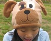 Puppy Dog Fleece Hat - Baby Toddler Children Adult Animal Fleece Hat/Beanie, Baby Infant Toddler Puppy Dog Hat