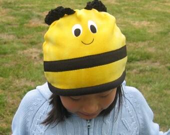 Bee Fleece Hat - Baby Toddler Children Adult Animal Fleece Hat/Beanie, Baby Infant Toddler Bee Hat, Bumble Bee Hat, Animal Hat