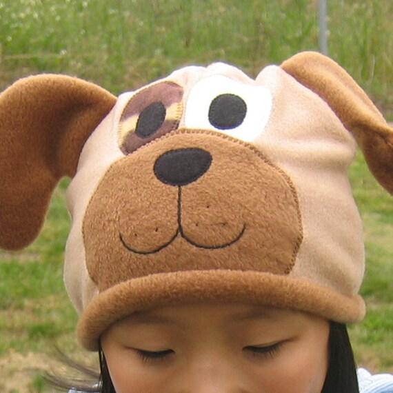 Puppy Dog Fleece Hat Baby Toddler Children Adult Animal