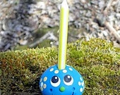 Cakeadoodles BLUE Birthday Candle Holder A DAY IN THE WOODS