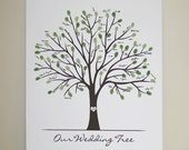 Medium Canvas Wedding Tree (16x20) without ink pads