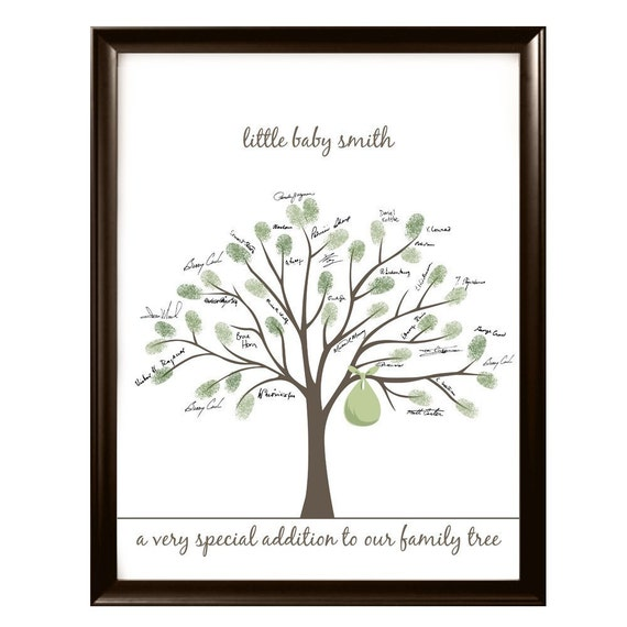baby shower fingerprint tree by lovliday on etsy