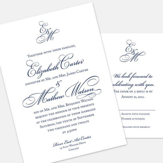 Printable Elizabeth Invitation (PDF)