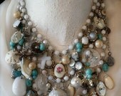 Dream Necklace.  Drippy, Dreamy, White & Creamy. GOBS of Soft ReInvented DELICIOUSNESS. ALL elements removable for solo wear. Kay Adams.