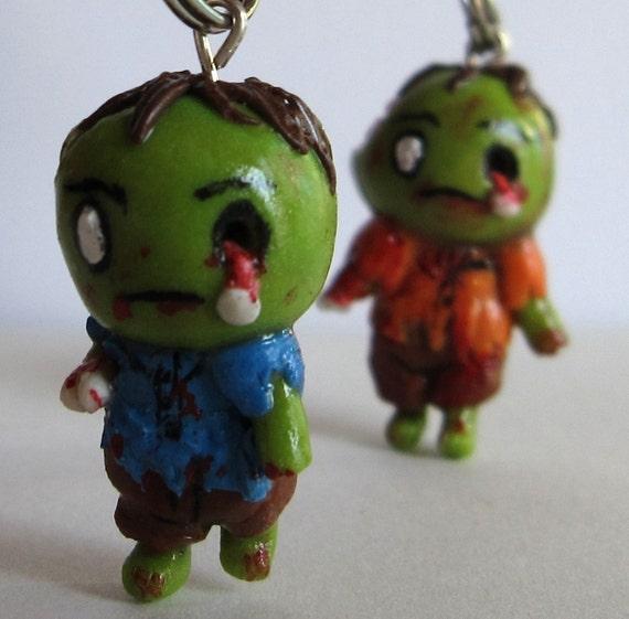 halloween charm zombie brains polymer clay
