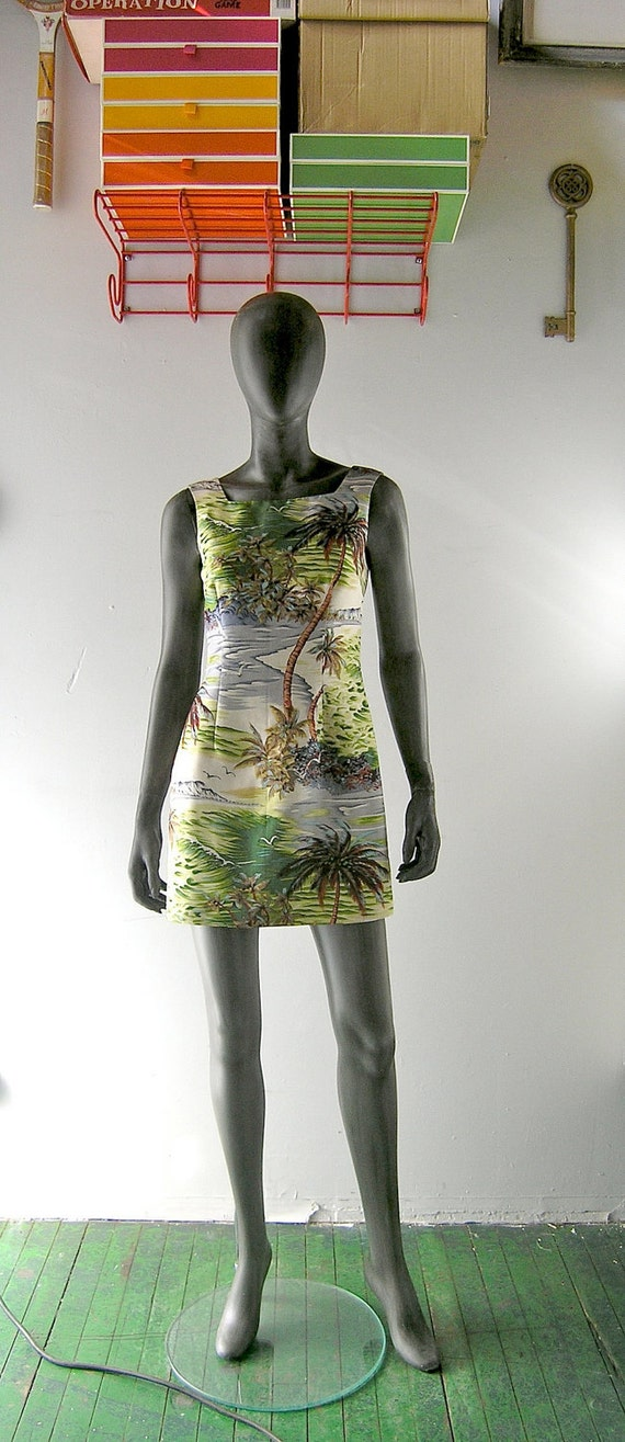 Nanette Lepore silk dress - tank style summer shift - tropical print - size 2/4 - resort collection - Palm Beach chic