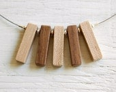 SALE // Wood Necklace // Fringe no7 // Reclaimed Maple and Walnut Beads // One of a Kind