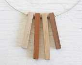 SALE // Wood Necklace // Fringe no11 // Reclaimed Maple, Redwood, Oak and Walnut Beads // One of a Kind