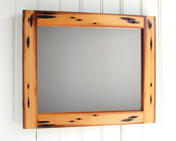 SALE // Reclaimed Wood Mirror // 11 x 14 // Douglas Fir from Leather Tannery