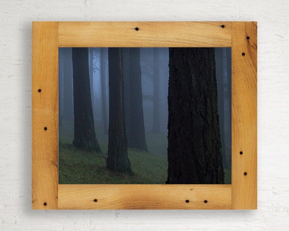 Reclaimed Rustic Wood Frame // 8 x 10 // Beech from Jim Beam Distillery // One of a Kind