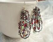 Jewel of the Nile - Beaded Hoops Earrings