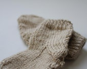 SALE - Oatmeal - Handknit Booties - 6-18 months