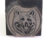 Wolf Printers Block - Large Vintage Decor Stamp