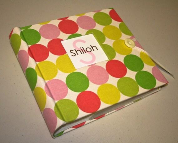 Photo Album Book bound ... Dwell Studio Pink and Green Dots Album