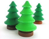 Wooden toys .... C is for conifer ( green pine tree )
