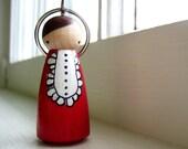 handmade wooden folk art key chain ...  Anne