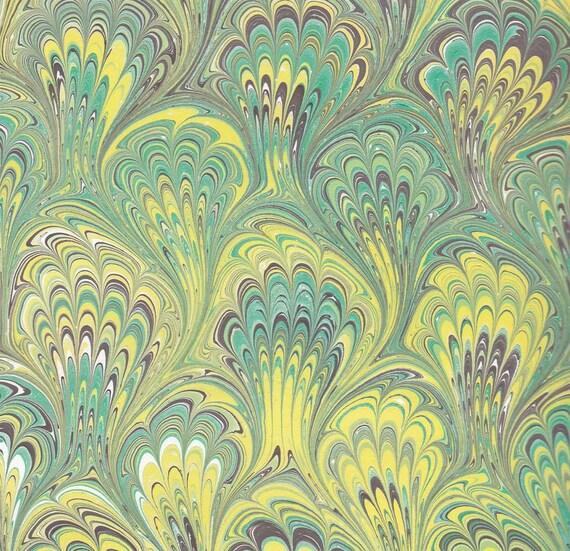 The Secret Garden - Hand marbled paper