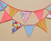 Bunting Fiesta banner Party 11 flags Garland bunting fabric for weeding prom baby shower barbecue room photo decorations ready to ship BB8