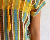 Yellow Ethnic Knit Cap Sleeved Tunic