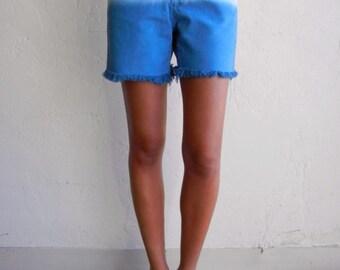 Cobalt Blue Dip-Dyed Lee Shorts