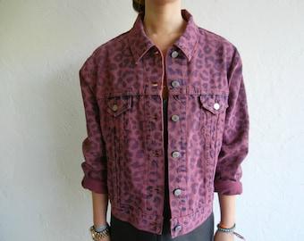 "Vintage Levi's ""Fuchsia Leopard"" Denim Jacket"