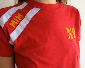 "Red ""Sorority"" 50/50 Shirt"