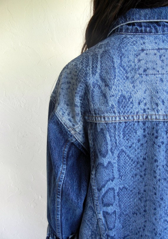 Levi's Customized Snake Back Denim Jacket