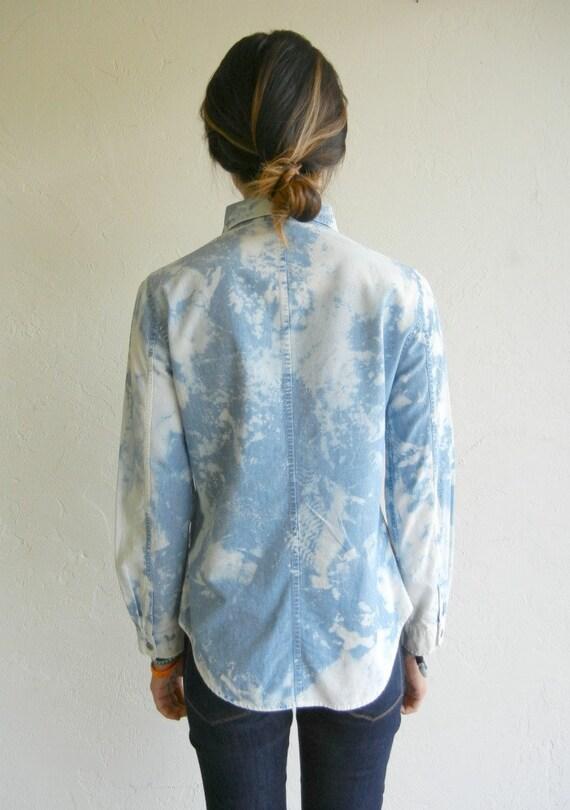 Light Blue Marbled Denim Shirt