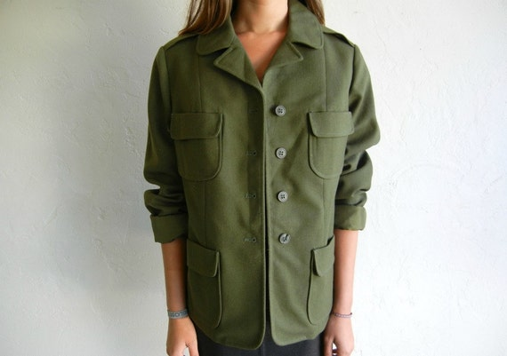 60s Military  Green Jacket