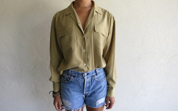 Vintage Taupe Relaxed Button Up Shirt