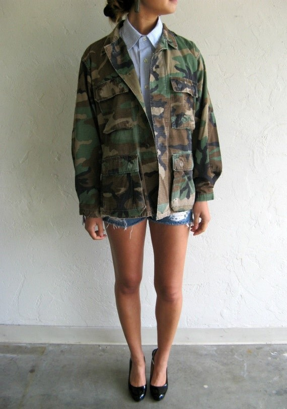 Vintage Camo USMC Army Jacket