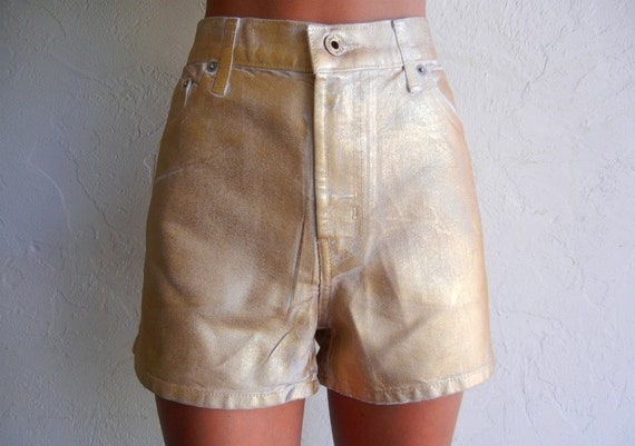 Vintage Guess Gold Foiled Shorts