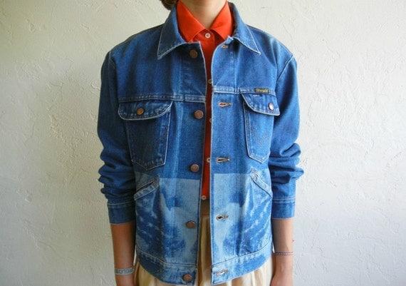 Lion Mouth Design Denim Jacket