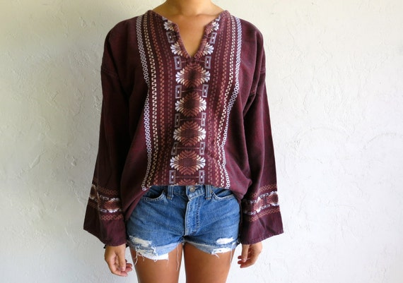 Maroon Red Indian Style Tunic