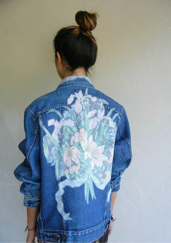 """Vintage Levi's """"Floral"""" Denim Jacket"""