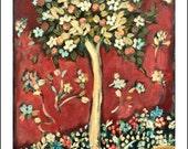 Orange Tree Carrie Joy Art Fine Art Print 8 x 10