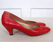 Cherry Red Pumps size 8