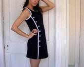 Nautical Minidress in Navy and White size S/M