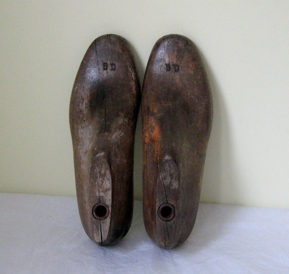 5D  - Pair of Well Worn Shoe Lasts - 20th Century Artifact