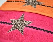 Leopard Star Bathroom Hand Towels