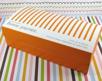 Elegant Orange Cake Box